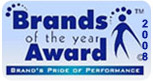 Brand Of The Year Award 2008